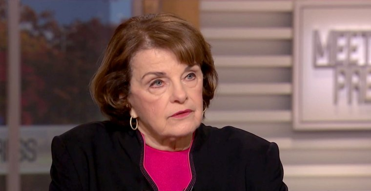 Image: Sen. Dianne Feinstein (D-CA) appears on Meet the Press, Dec. 3, 2017.