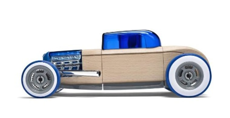 Automobile made of wood