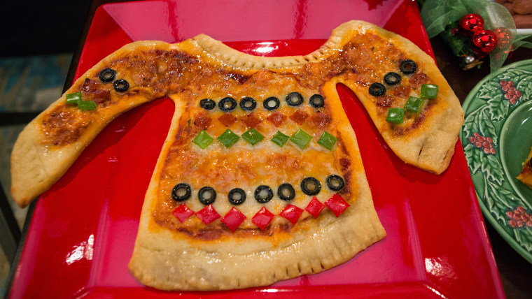 Ugly Pizza Christmas Sweater