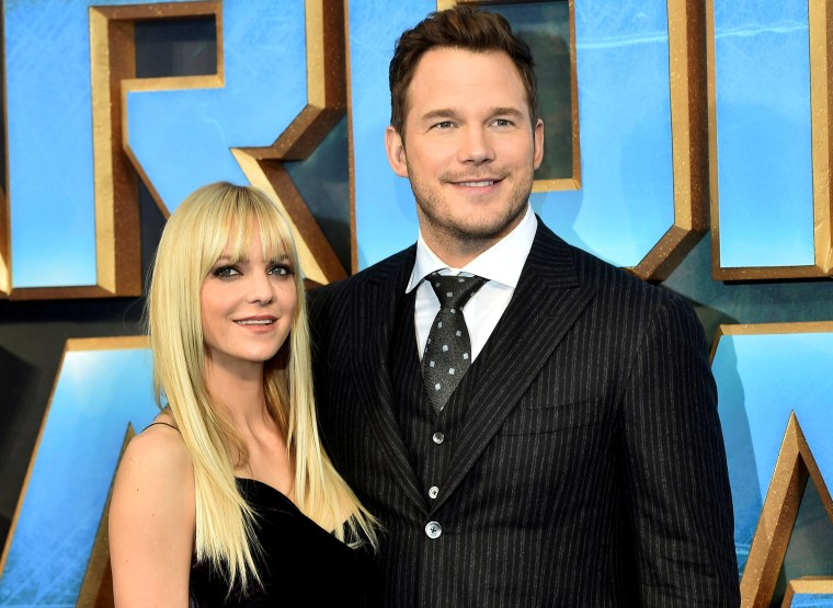 "Image: FILE PHOTO Chris Pratt poses with his wife Anna Faris as they attend a premiere of the film ""Guardians of the galaxy, Vol. 2"" in London"