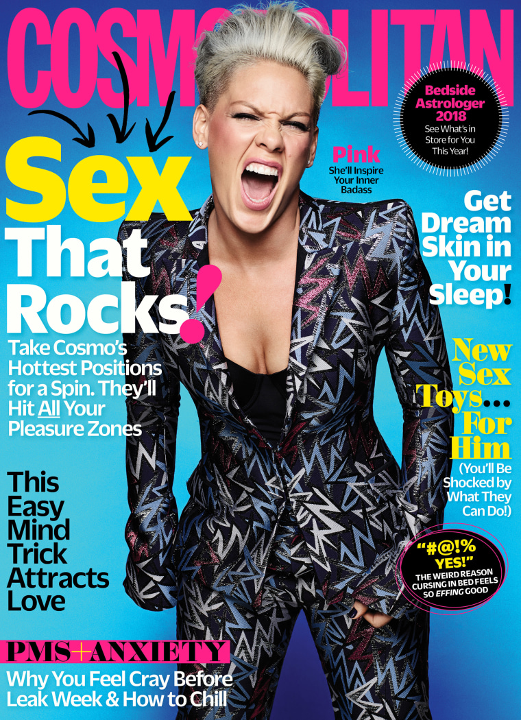 P!NK in the January 2018 issue of Cosmopolitan