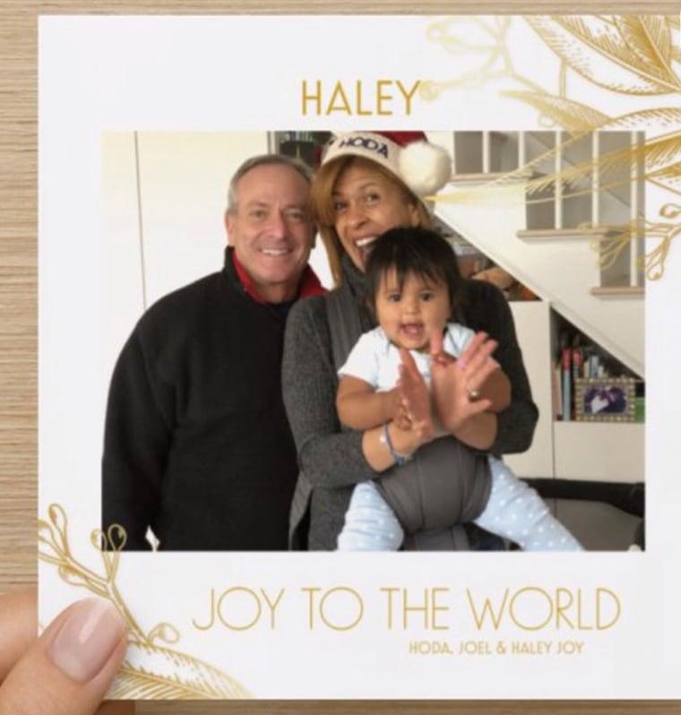 See Hoda Kotb's adorable family holiday card with daughter Haley Joy
