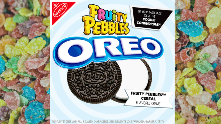 Oreo revealed that its Mystery cookie flavor is Fruity Pebbles cereal.