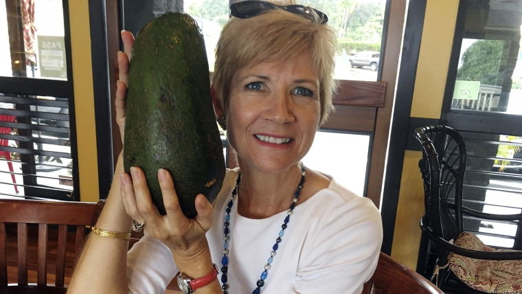 Wang is waiting to hear back from Guinness World Records to find out if the 5-pound (2.3-kilogram) avocado she snagged is the world's largest.