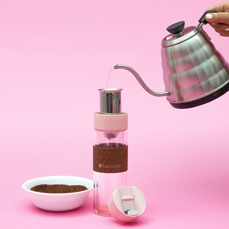 Pink coffee brewer