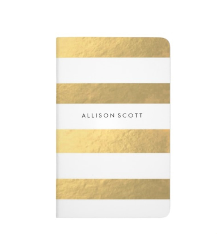 Gold Personalized Notebook