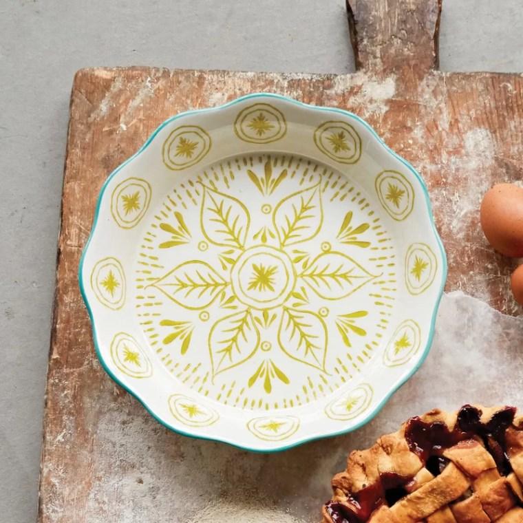 Wayfair hand painted pie pan