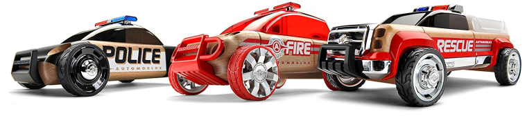 Racecars made of wood
