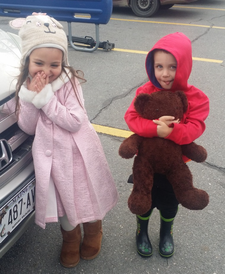 Nathan's lost teddy bear was found by another 3 year old, Bella Moustrouphis.