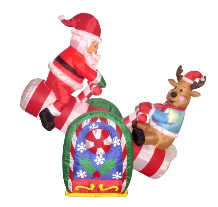 Santa and reindeer gadget