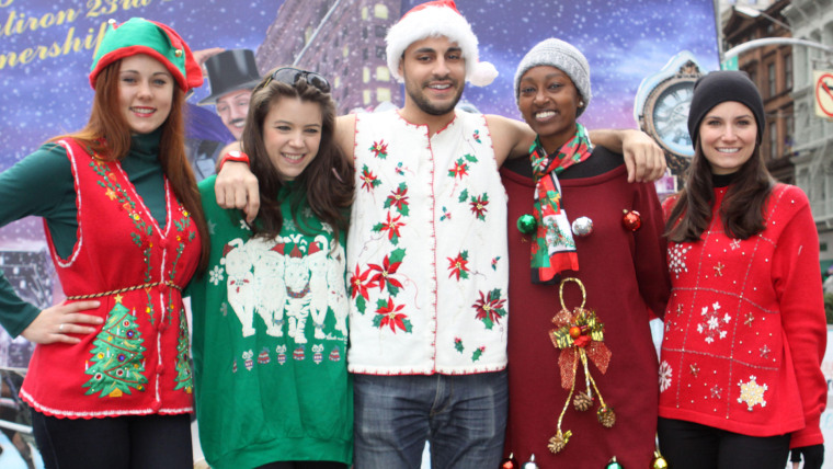 This airline offers early boarding if you wear an ugly Christmas sweater.