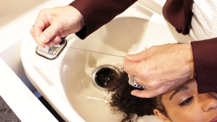 Your hairstylist may be testing the health of your hair as they lather up.