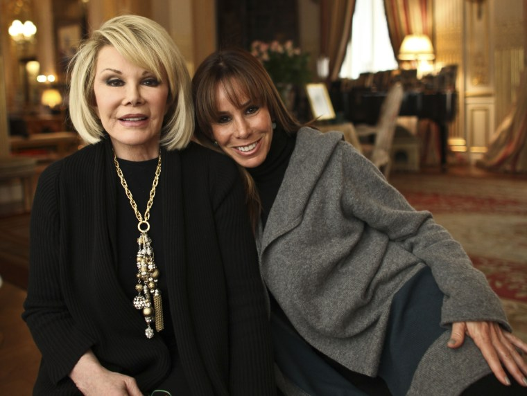 Image: Joan Rivers and her Daughter, Melissa, at Rivers' apartment in New York