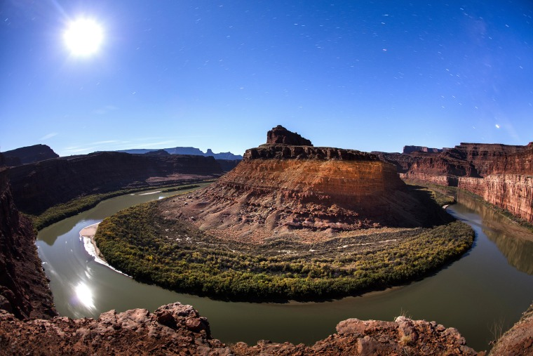 Image: The moon rises above the Colorado River and the northernmost stretch of Bears Ears National Monument