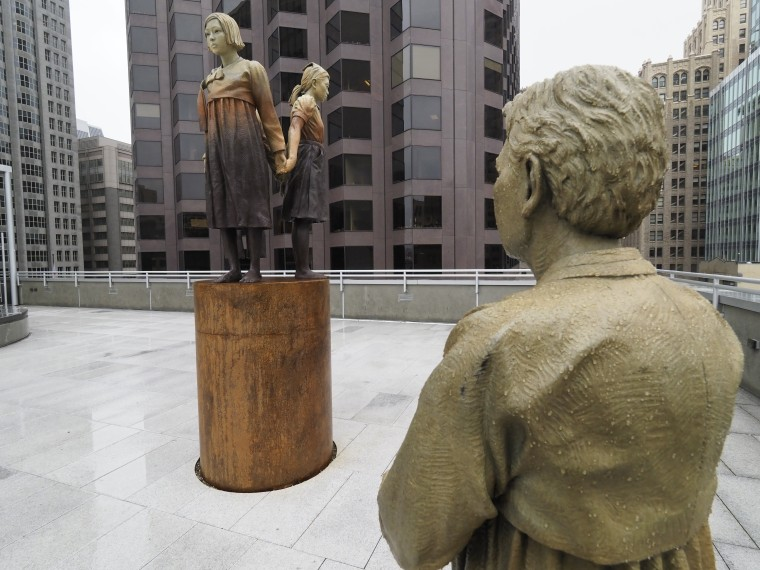 "Image: San Francisco's ""Comfort Women"" sculpture causes Osaka, Japan mayor to threaten to sever ties"