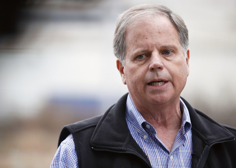 Image: Doug Jones during a news conference