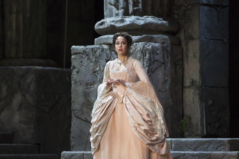 "Nadine Sierra as Ilia in Mozart's ""Idomeneo"" in New York."