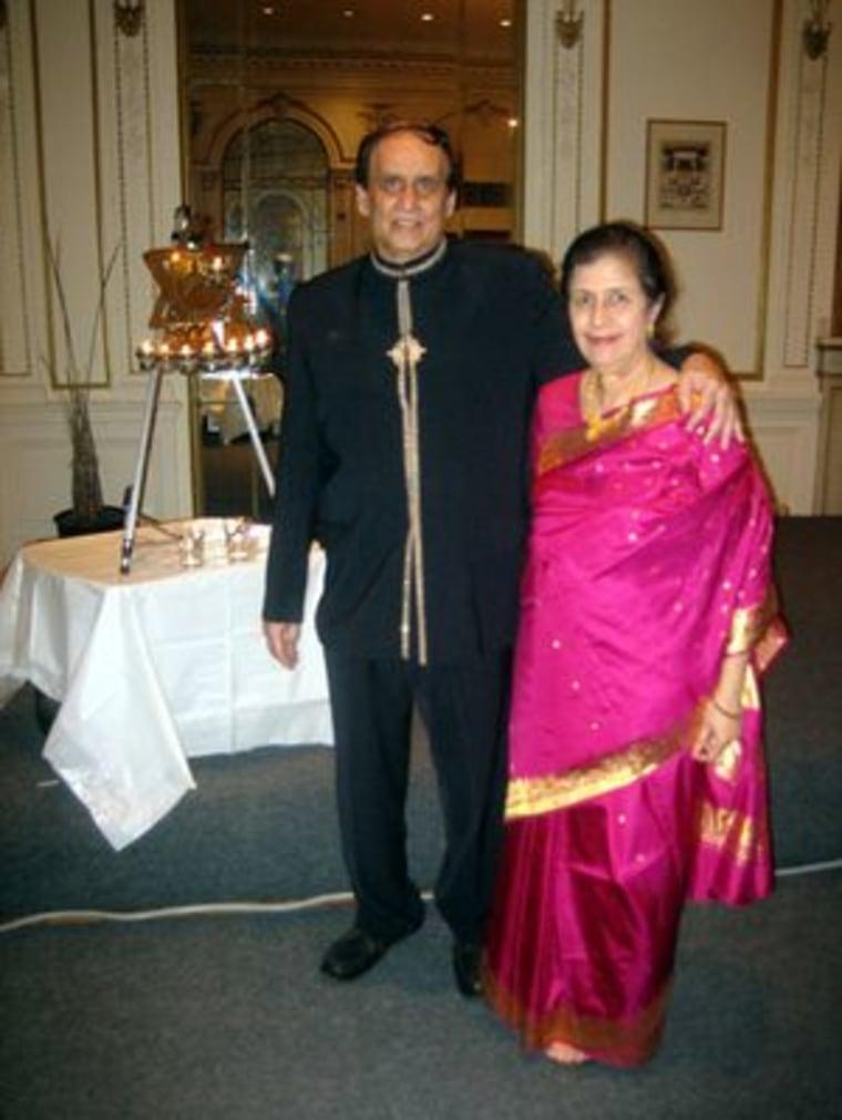 Rabbi Romiel Daniel and his wife Noreen during Hanukkah celebrations last year.