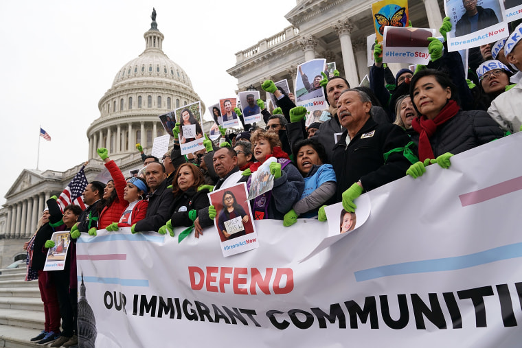Image: Immigration Activists Protest On Capitol Hill Calling On Congress To Pass Clean Dream Act