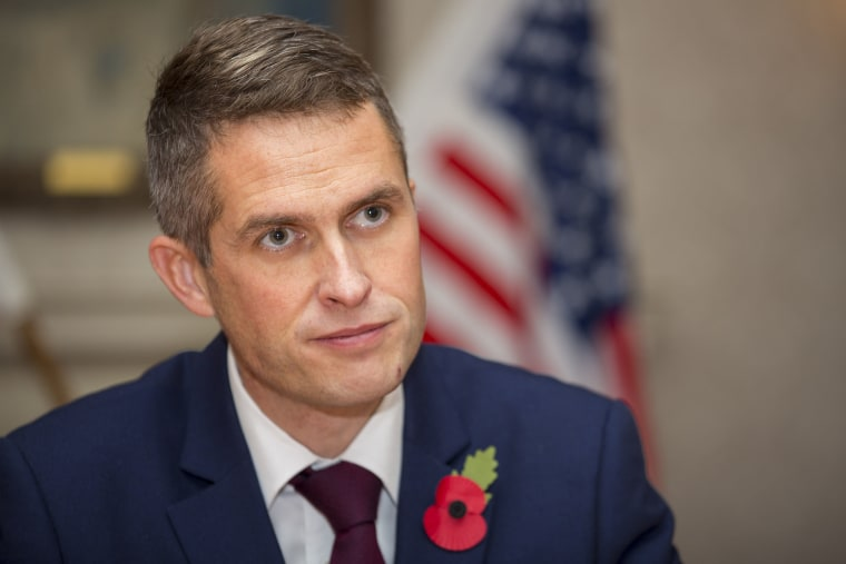Image: Defence Secretary Gavin Williamson