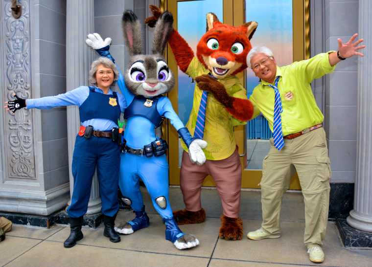 Steven and Millie Tani as Nicke Wilde and Judy Hopps