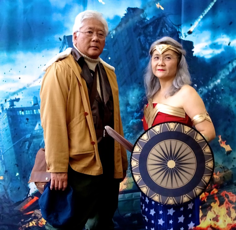 "The ""Cosplay Parents,"" Steven and Millie Tani, at Long Beach Comic Con"