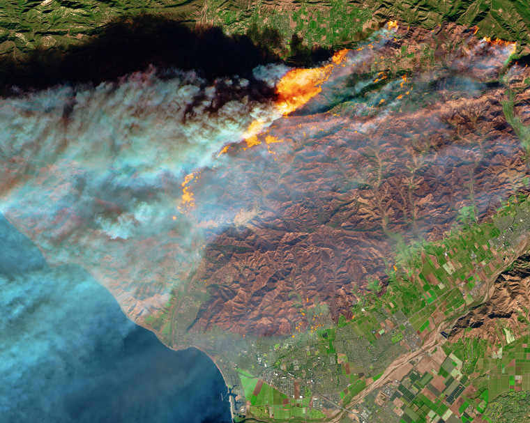 Image: NASA California fires