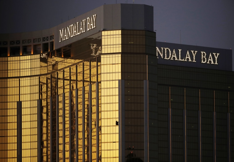 Image:Windows are broken at the Mandalay Bay resort