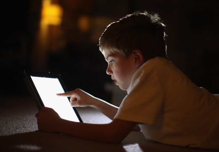 Image: Children Interacting With Tablet Technology