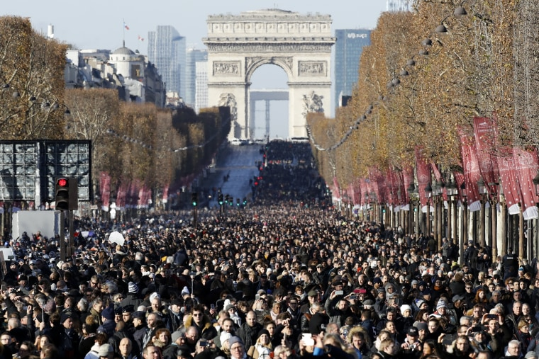 Image: Tribute to Johnny Hallyday in Paris