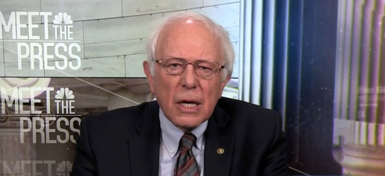 Image: Senator Bernie Sanders (I-Vt.) appears on Meet the Press on Dec. 10, 2017.