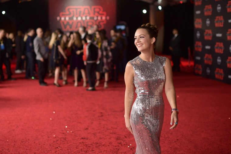 "Image: Premiere Of Disney Pictures And Lucasfilm's ""Star Wars: The Last Jedi"" - Red Carpet"