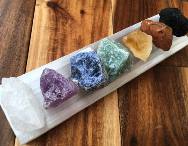 New Moon Beginnings 7 Chakra crystals