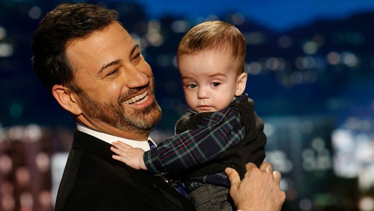 Jimmy Kimmel is back, and he brought his baby boy on the show last night !