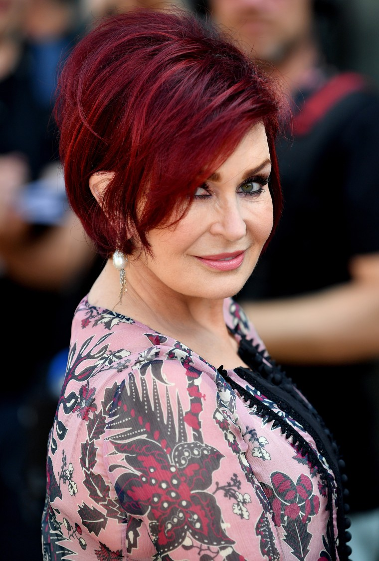 Sharon Osbourne mulled wine hair color