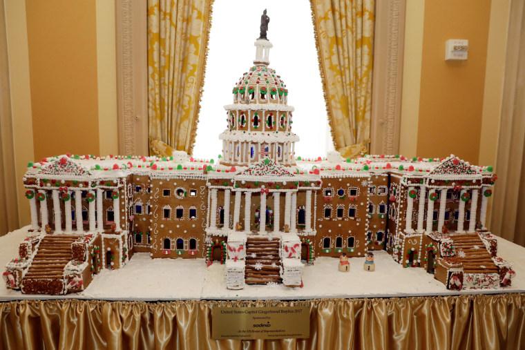 U.S. Capitol Gingerbread Replica 2017 is seen on Capitol Hill