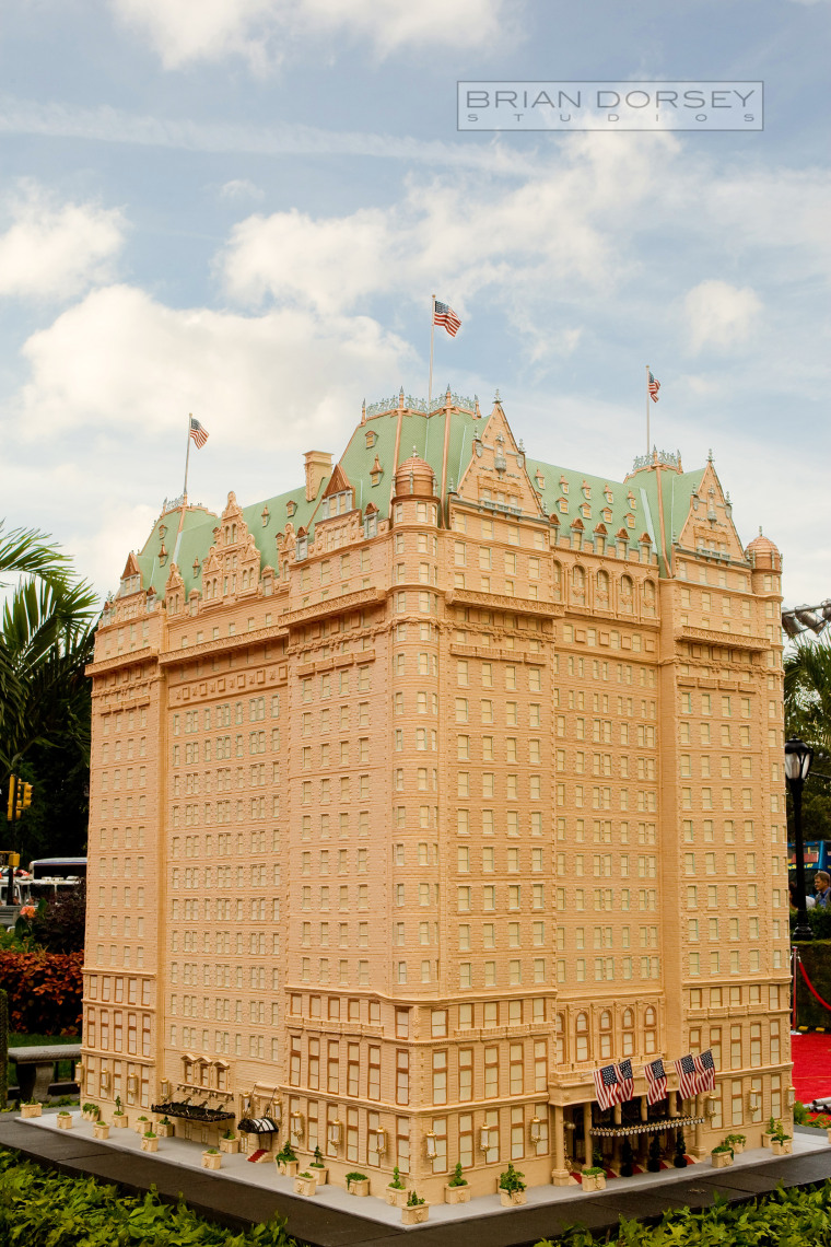 The Plaza made from gingerbread.