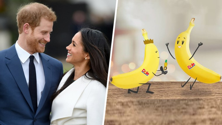 Harry and Meghan and two bananas
