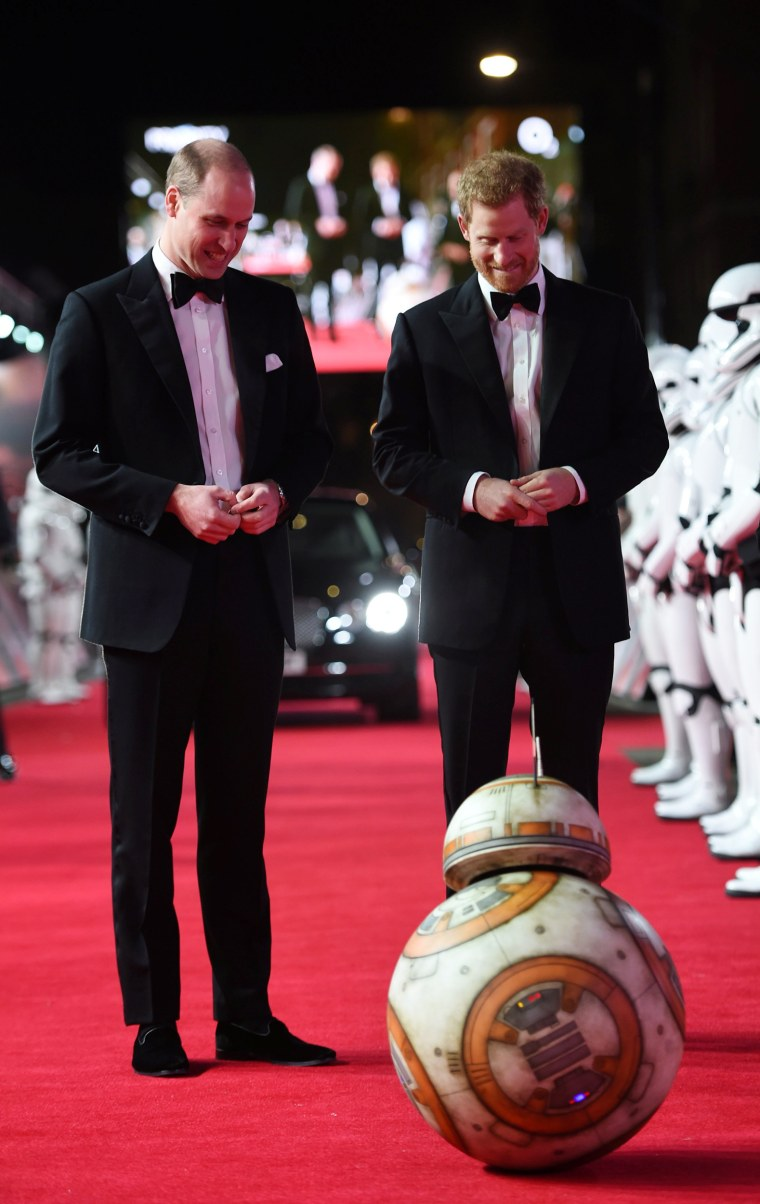 Prince William, Prince Harry  'Star Wars: The Last Jedi' European Premiere