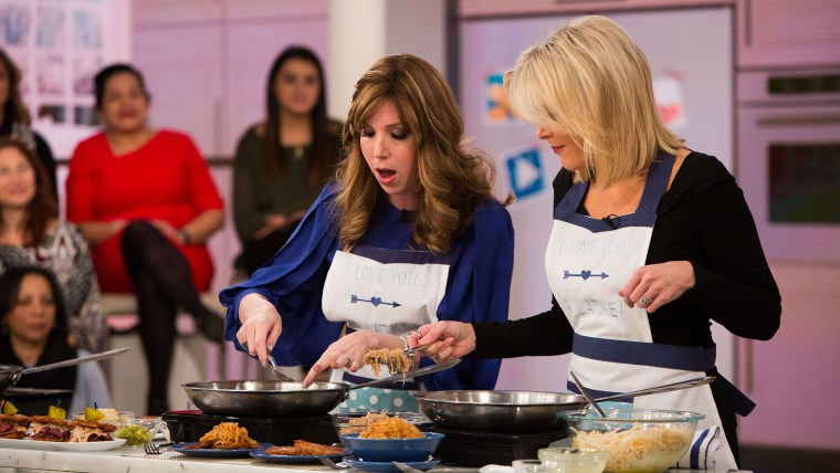 """As we head into the second night of Hanukkah, Jamie Geller, author of """"The Joy of Kosher,"""" joins Megyn Kelly TODAY to demonstrate how to make a delicious holiday treat: latkes. Among her """"next-level"""" latkes: a Reuben latke and even a breakfast lat"""