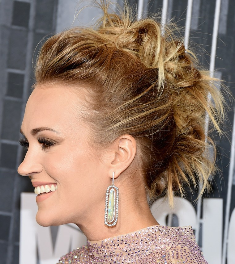 Carrie Underwood updo hairstyle photo
