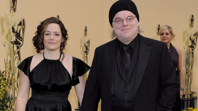 Image: The Oscars - Philip Seymour Hoffman and Mimi O'Donnell