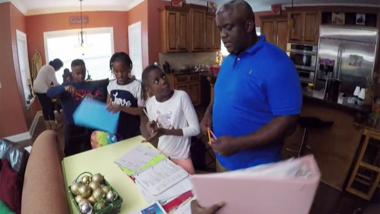 Family who adopted seven siblings who had been split up into separate foster homes.