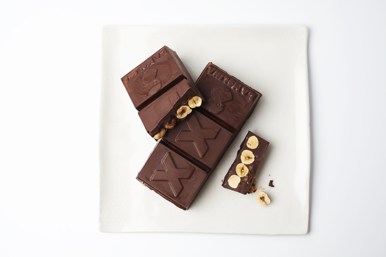 Dark Gianduja Chocolate with Whole Hazelnuts