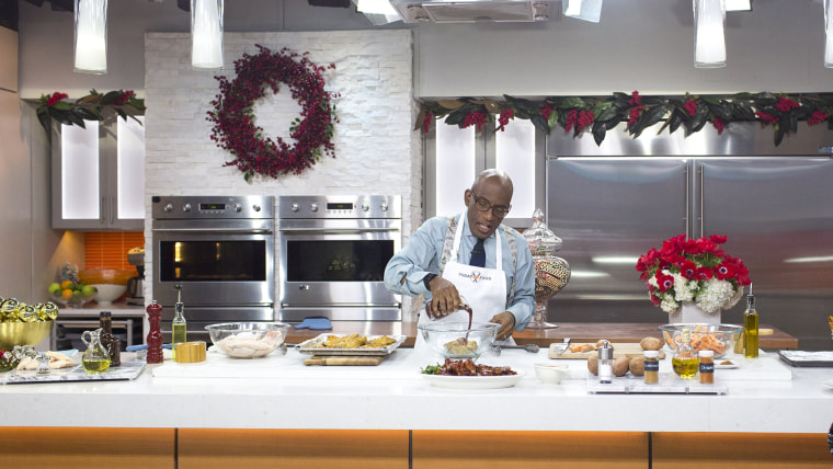 Image: Al Roker cooks up delicious barbecue wings and sweet potato fries
