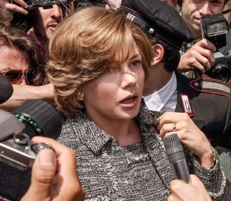 Michelle Williams as Gail Getty, dealing with the media frenzy surrounding the kidnapping of her son.
