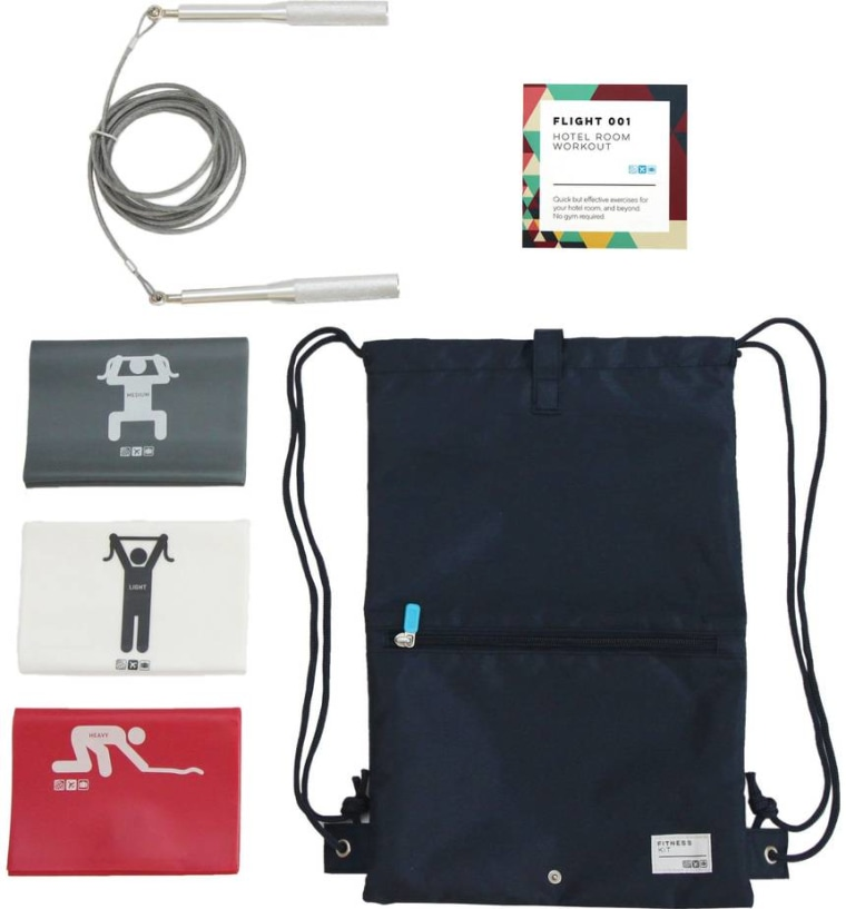 Flight 001 fitness kit for travelers
