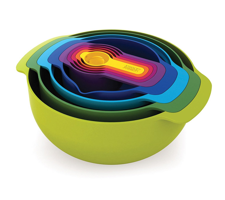 Joseph Joseph set of 9 nesting bowls and measuring cups
