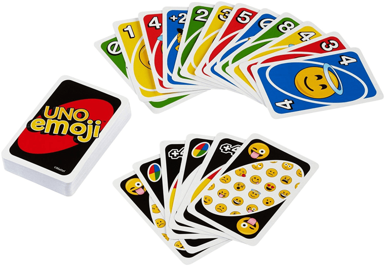 Mattel Tin Uno emoji edition card game