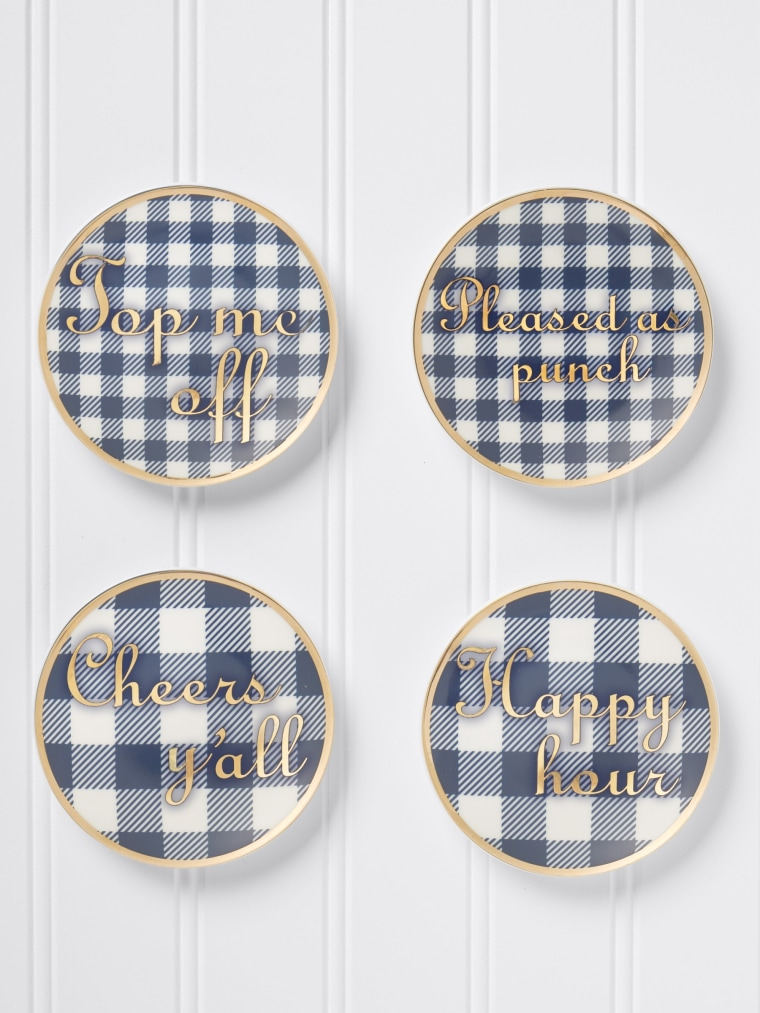 Draper James gingham coaster set